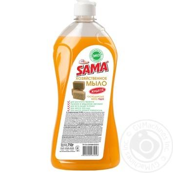 Хозяйственное мыло SAMA жидкое 750г - купить, цены на Фуршет - фото 1