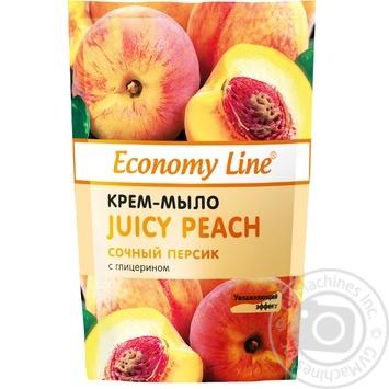 Крем-мыло Economy line Сочный персик с глицерином 460г