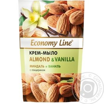 Economy line Almonds and vanilla Cream-soap with glycerin 460g - buy, prices for EKO Market - photo 1