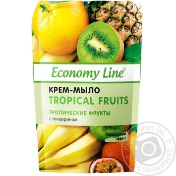 Крем-мыло Economy Line Тропические фрукты с глицерином 460г - купить, цены на ЕКО Маркет - фото 1