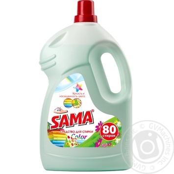 Средство для стирки Sama Color 4л - купить, цены на Фуршет - фото 1
