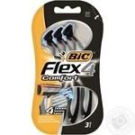 Бритвенные станки Big Flex 4 Comfort одноразовые с 4-мя лезвиями 3шт
