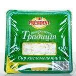 Творог Президент Творожная традиция 9% 450г