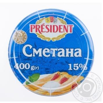 Сметана Президент 15% 400г - купить, цены на Фуршет - фото 6
