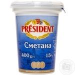 Сметана Президент 15% 400г - купить, цены на Фуршет - фото 3