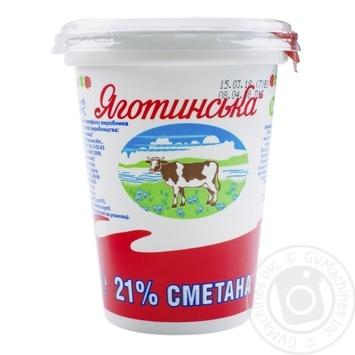 Сметана Яготинская 21% 350г