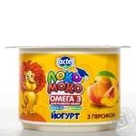 Йогурт Лактель Локо Моко персик обогащенный кальцием омегой 3 и витамином D 1.5% 115г