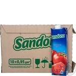 Сок Sandora томатный 0,95л опт*10шт