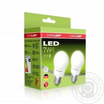 """Промо-набор EUROLAMP LED Лампа A50 7W E27 4000K акция """"1+1"""" - купить, цены на Таврия В - фото 1"""