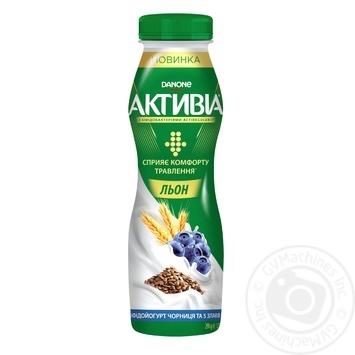 Бифидойогурт Danone Активиа Черника и 5 злаков питьевой 1,5% 290г