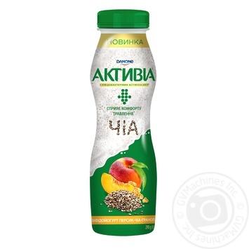 Бифидойогурт Danone Активиа Персик-Чиа-Гранола питьевой 1,5% 290г