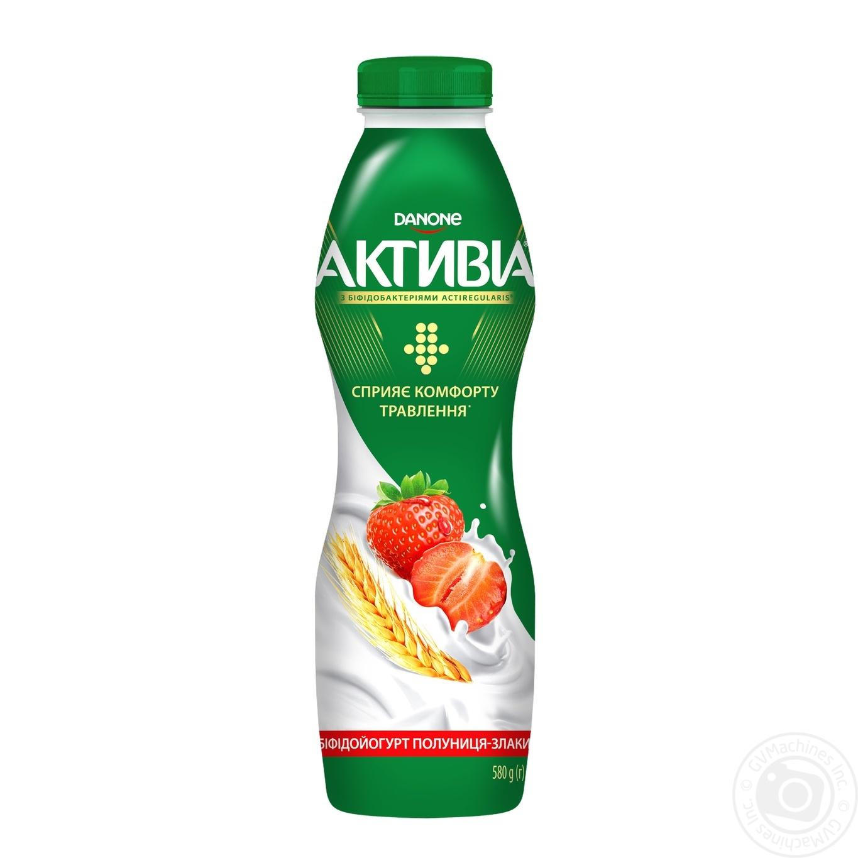 Йогурт Активіа полуниця-злаки 1.5% 580г → Молочне і яйця → Йогурт ... b562d75206969
