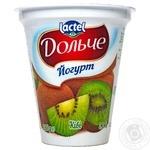 Йогурт Lactel Дольче Ківі 3,2% 280г - купити, ціни на Фуршет - фото 1