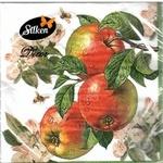 Серветки паперові Silken Яблука 33*33 3шар 18шт