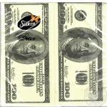 Салфетки Silken Duet целлюлозные трехслойные с печатью Money-money 20шт