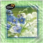 Серветки паперові Silken Конвалії 33*33 3шар 18шт