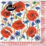 Серветки паперові Silken Макове поле 33*33 2шар 18шт