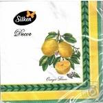 Серветки паперові Silken Лимони 33*33 3шар 18шт