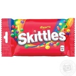 Конфеты Skittles Fruits жевательные с фруктовым соком 38г