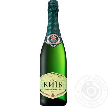 Вино игристое КЗШВ Наш Киев белое полусладкое 0,75л