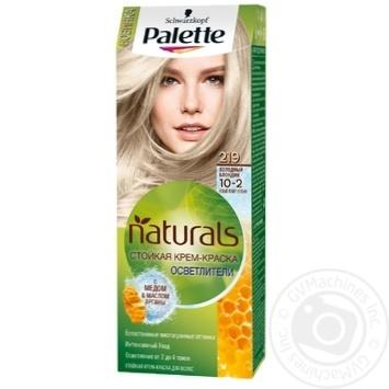 Краска для волос Palette Naturals 10-2 (219) Холодный блондин 110мл - купить, цены на Novus - фото 1