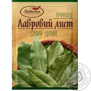 Лист лавровий Любисток цілий 10г - купити, ціни на Novus - фото 1