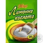 Lemon acid Lyubystok for baking 20g