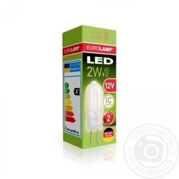 Лампа Eurolamp светодиодная квадратная G4 2W 3000K - купить, цены на Ашан - фото 1
