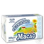 Масло Молокія Селянское сладкосливочное 72.5% 200г