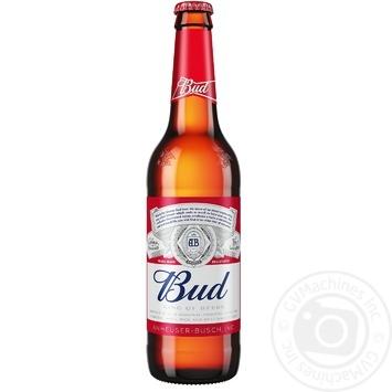 Пиво Bud светлое 5% 0,5л - купить, цены на Фуршет - фото 1