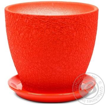 Горщик Магнолія 20*18*3,0 шовк, червоний, кераміка
