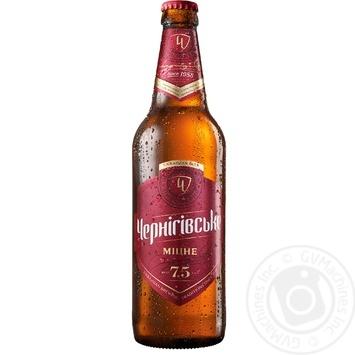 Пиво Черниговское Крепкое светлое 7,5% 0,5л
