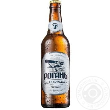 Пиво Рогань светлое безалкогольное 0,5 л стекло - купить, цены на Фуршет - фото 1