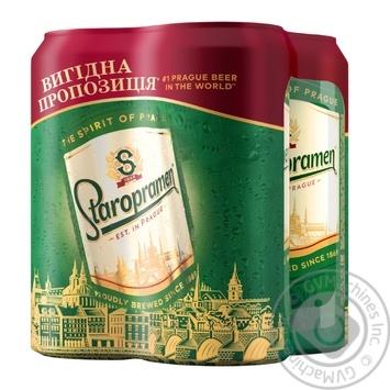 Пиво Staropramen 4шт*0,5л ж/б