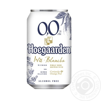 Hoegaarden White NA Beer 0,33l can - buy, prices for MegaMarket - image 1
