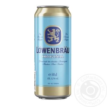 Пиво Lowenbrau Original светлое ж/б 5.2% 0,5л - купить, цены на Novus - фото 1