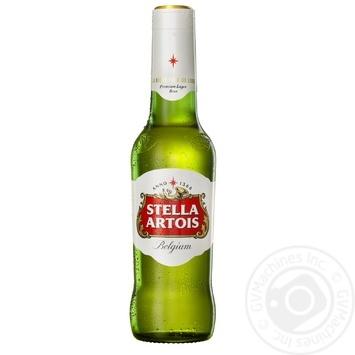 Пиво Stella Artois світле 5,2% 0,5л - купити, ціни на Novus - фото 1