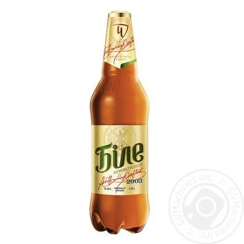 Пиво Чернігівське Біле світле нефільтроване 1,5л - купити, ціни на Novus - фото 1