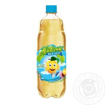 Напиток безалкогольный Живчик с соком яблока соковый негазированный 1л - купить, цены на Фуршет - фото 1