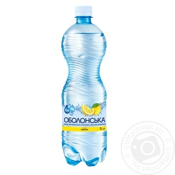 Вода минеральная Оболонская плюс лимон сильногазированная 1л