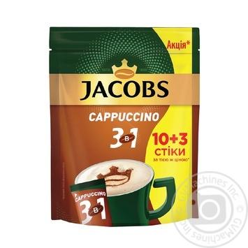 Напиток кофейный Jacobs 3в1 Cappuccino в стиках 13*12.5г