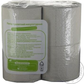 Папір туалетний Ашан двошаровий сірий 4шт - купити, ціни на Ашан - фото 2