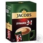 Напиток кофейный Jacobs 3в1 Dynamix в стиках 24шт*12,5г