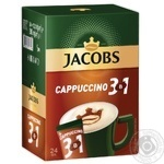 Напиток кофейный Jacobs 3в1 Cappuccino в стиках 24*12,5г