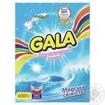 Порошок стиральный Gala морская свежесть для цветных вещей ручная стирка 400г