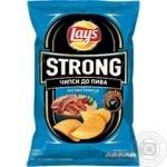 Чипсы Lay's Strong к пиву со вкусом огненных ребрышек 120г