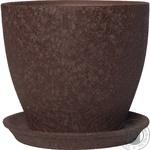Pot magnolіya 16*19*2,5 silk, chocolate, ceramics