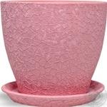Горшок Магнолия 16*19*2,5 шёлк, розовый, керамика