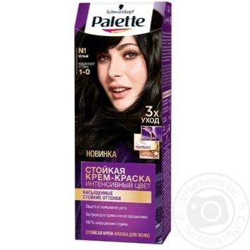 Palette Intensive 1-0 (N1) Black Hair Dye 110ml - buy, prices for Novus - image 1