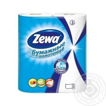 Паперові рушники Zewa 2 шари 2шт